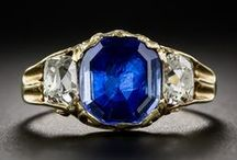 Antique Sapphire Jewelry / Antique and Vintage sapphire jewelry honoring September's birthstone.