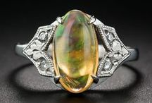 Opal Jewelry / A board celebrating October's Birthstone.