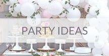 Party ideas / Looking for party ideas? Baby shower, bridal shower, birthday, party decorations, balloon installations.  Pomysły na przyjęcia, dekoracje, balony, bary, bufety.