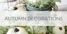 Autumn decorations / Autumn decorations ideas - fall centerpieces, flower arrangments, colors
