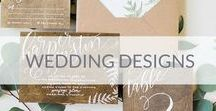 Wedding designs / Wedding invitations and other designs ideas.  Invitations, escort cards, menu, table numbers, seating charts, table setting.
