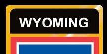 USA: Wyoming - State / Wyoming = Hauptstadt / Capital - Cheyenne ~~~ Wyoming - Vereinigte Staaten von Amerika / United States of America / USA