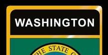 USA: Washington - State / Washington = Hauptstadt / Capital - Olympia ~~~ Washington - Vereinigte Staaten von Amerika / United States of America / USA