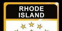 USA: Rhode Island - State / Rhode Island = Hauptstadt / Capital - Providence ~~~ Rhode Island - Vereinigte Staaten von Amerika / United States of America / USA