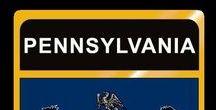 USA: Pennsylvania - State / Pennsylvania = Hauptstadt / Capital - Harrisburg ~~~ Pennsylvania - Vereinigte Staaten von Amerika / United States of America / USA