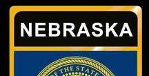 USA: Nebraska - State / Nebraska = Hauptstadt / Capital - Lincoln ~~~ Nebraska - Vereinigte Staaten von Amerika / United States of America / USA
