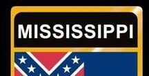 USA: Mississippi - State / Mississippi = Hauptstadt / Capital - Jackson ~~~ Mississippi - Vereinigte Staaten von Amerika / United States of America / USA