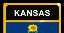 USA: Kansas - State / Kansas = Hauptstadt / Capital - Topeka ~~~ Kansas - Vereinigte Staaten von Amerika / United States of America / USA