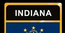 USA: Indiana - State / Indiana = Hauptstadt / Capital - Indianapolis ~~~ Indiana - Vereinigte Staaten von Amerika / United States of America / USA