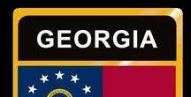 USA: Georgia - State / Georgia = Hauptstadt / Capital - Atlanta ~~~ Georgia - Vereinigte Staaten von Amerika / United States of America / USA