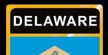 USA: Delaware - State / Delaware = Hauptstadt / Capital - Dover ~~~ Delaware - Vereinigte Staaten von Amerika / United States of America / USA