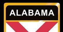 USA: Alabama - State / Alabama = Hauptstadt / Capital - Montgomery ~~~ Alabama - Vereinigte Staaten von Amerika / United States of America / USA