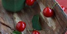Pflanzen: Kirsche / Kirsche / Cherry + Obst - Früchte / Fruit