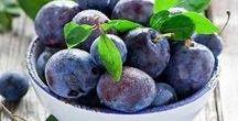 Pflanzen: Pflaume / Pflaume / Plum + Obst - Früchte / Fruit