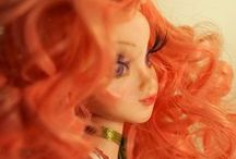 OOAK Art Polymer Clay doll - Curly Red / Curly Red