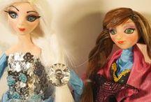 OOAK Art Polymer Clay doll - Magic Sisters / Magic Sisters