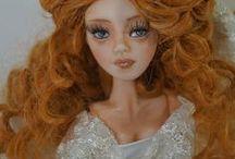 OOAK Art Polymer Clay doll - Bride / Bride