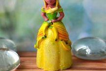 Banana dress / tropical, fruit dress,banana dress