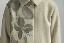 Leaves / Ecoprint clothing and scarves.