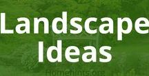 Landscape Ideas & DIY Landscaping / Find landscaping design inspiration for your front yard or backyard. Get ideas and planting tips for lawns, flower gardens, shrubbery, trees, and ornamental grasses. You could even put in a water garden or small goldfish pond!