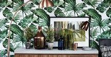 ZAXE INSPIRATION┃Jungle / Un tableau d'inspiration qui vous convaincra de laisser entrer la jungle dans votre maison.