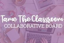 Tame the Classroom Collab / Taming the classroom is a daunting task! That's why it's even more fun with fellow teacher to collaborate with!   ***RULES: This board is only for sharing helpful classroom ideas and tips. Absolutely no promotion or links to TpT stores or any other personal stores. However, you may share blog posts that contain links elsewhere. Tame the Classroom has permission to delete pins and remove collaborators at any time.  ***TO JOIN: First, follow the Tame The Classroom page on Pinterest. Then send an email asking to join the collaborative board to hello@tametheclassroom.com