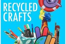 Recycled Art & Crafts / Recycled crafts for kids, teachers, and crafty people!  #teachersfollowteachers #kidscrafts #kids #crafts #k-2 #recycle