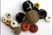 History - 5. Beads (All Periods) / Beads prior to c.1500 from any location or material. Lone beads, collections of strung materials, and bead necklaces. / by Emy Magpie