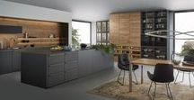Leicht cuisines Carbone Bois naturel / Exemples de cuisines Leicht : Mélange de laque mate carbone & bois naturel