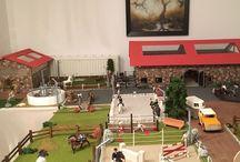 Modellbau Schleich / #Schleich #Modellwelt #Diorama #Pferde