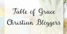 Table of Grace Christian Bloggers / Table of Grace Christian bloggers is a group of Christian women committed to writing about God's truth accurately to His glory. You can find content here on theology, Bible study, homemaking, living in difficulties, and Christian living for women.