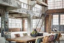 Индустриальный стиль и Лофт / Идеи по Индустриальному стилю и Лофту. Мебель, предметы декора, отделка, планировки.