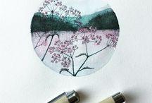 Drawings and paintings / Drawings and aquarelles, art stuff.