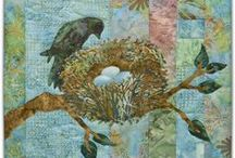 Bird embroidery & quilting