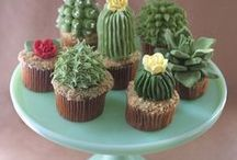 Cupcakes from the garden / lets combine my two loves gardens and desserts!