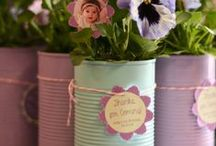 Soup can garden art to try / A little paint, a little twine and you've got something