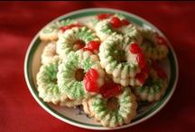 Spritz Wreath Cookies / The kind I made with my mom and that I made for Christmas with my kids and that my daughter will make with her daughter. All using the same Mirro cooky press
