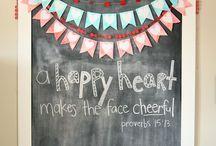 The chalkboard / by Angela Zere
