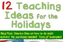 Christmas Teaching ideas / Teaching Ideas, lessons, activities, and resources with Christmas or December themes for Grades 2-6.