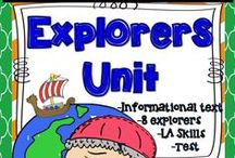 Explorer Ideas / Explorers Ideas!  Find amazing Explorers resources, ideas, activities, and lessons to teach your upper elementary class relating to Columbus, Magellan, Vespucci, DeSoto, Cabot, LaSalle, Hudson, and other Explorers!