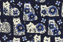 Crazy for Cats! / It's no secret, we love cats at Harts! Find our favorite cat prints along with kitty inspired projects.