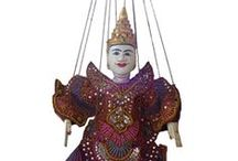 Traditional Puppets / Awesome traditional puppets from around the World, featuring Wayang Golek and Wayang klitik Puppets from Java, Traditional Thai Burmese Puppets fro the Golden Triangle area and Rajasthani Rajput puppets from the desert state of Rajasthan in India