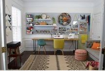 Inspiration Sewing Spaces / Spaces you want to sew in.
