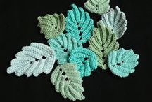 *CROCHETED LEAVES / I have admit that this is one of my very favorite biards at the moment. I just love nature and to be able to replicate it in a craft.... well that's the best...hope you enjoy as much as I do ~!~ / by Janet Marie