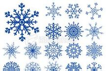 *WINTER ~ SNOWFLAKES / Crocheted, tatted, quilled, beaded, plastic canvas, and various other types of snowflakes... have FUN ~!~ / by Janet Marie