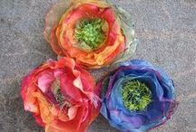 *FLOWERS ~ MAKE / Here are ways to make flowers so you have them all year long or for parties (since flowers don't always bloom when it's convenient for us). Flowers make the environment we live in pretty. Fill your house with them and watch your mood improve ~!!!~ / by Janet Marie