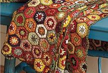 *CROCHET HEXAGONS / TRIANGLES / You can make any small circle or six point star into a Hexagon and you can make them into blankets (afghans), tops, etc. ENJOY ~!~