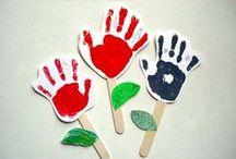 Huellas de los niños / Dibujos, manualidades e ideas utilizando las huellas de los niños