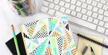 Washi Tape / Ruban Washi adhésif / Discover our new Washi Tape projects! || Découvrez des projets à réaliser avec le ruban adhésif en papier « Washi Tape » !