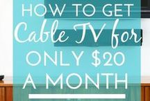 Cutting Cable / There's no need anymore to spend $100-$200 every month on your cable bill for a bunch of channels you're never going to watch.  Here's your hacks to the best streaming services and alternative ways to watch TV that will help you cut the cable cord and save a ton of money!  Learn more 1000WaysToSave.com